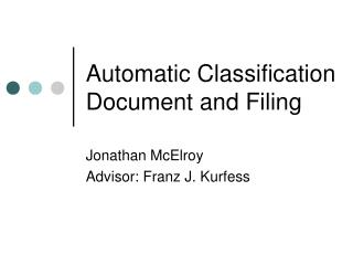 Automatic Classification Document and Filing