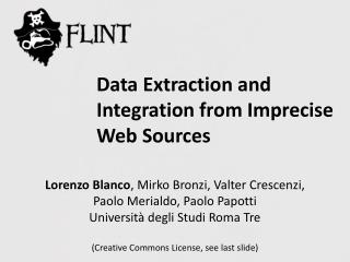 Data Extraction and Integration from Imprecise  Web Sources