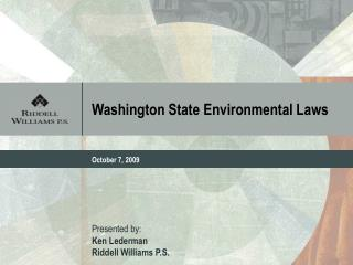 Washington State Environmental Laws