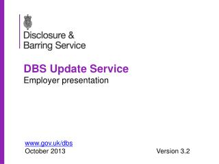 DBS Update Service Employer presentation
