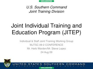 Joint Individual Training and Education Program (JITEP)