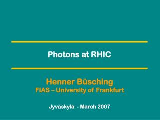 Photons at RHIC