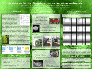 Inoculation and detection of  Impatiens necrotic spot virus  in tomato and cucumber