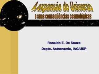 A expansão do Universo