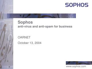 Sophos anti-virus and anti-spam for business