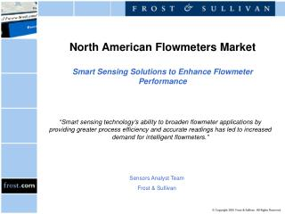 North American Flowmeters Market Smart Sensing Solutions to Enhance Flowmeter Performance