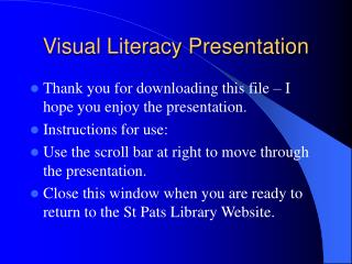 Visual Literacy Presentation