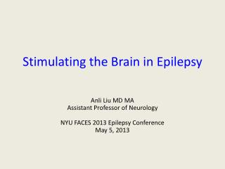 Stimulating the Brain in Epilepsy