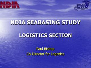NDIA SEABASING STUDY LOGISTICS SECTION