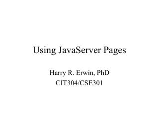 Using JavaServer Pages