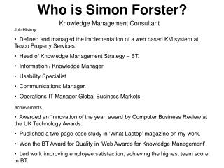 Who is Simon Forster?