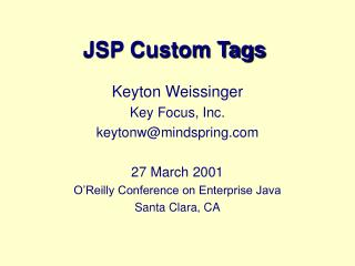JSP Custom Tags