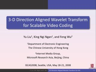 3-D Direction Aligned Wavelet Transform for Scalable Video Coding