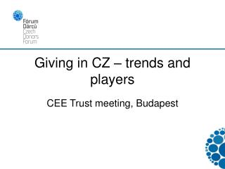 Giving in CZ – trends and players