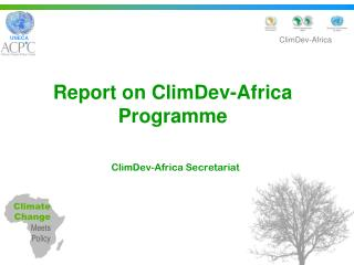 Report on ClimDev-Africa Programme