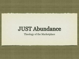 JUST Abundance