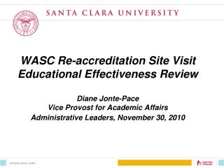 WASC Accreditation team visits SCU and JST