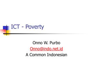 ICT - Poverty