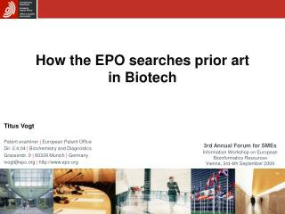 How the EPO searches prior art in Biotech