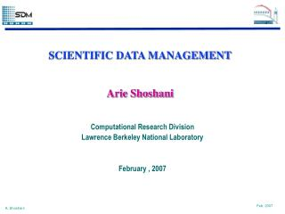 SCIENTIFIC DATA MANAGEMENT