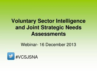 Voluntary Sector Intelligence and Joint Strategic Needs Assessments