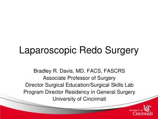 Laparoscopic Redo Surgery