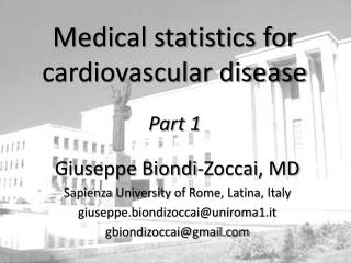 Medical statistics for cardiovascular disease Part 1