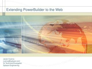 Extending PowerBuilder to the Web