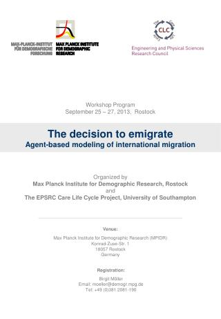 The decision to emigrate Agent-based modeling of international migration