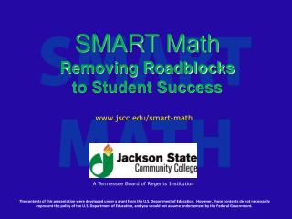 SMART Math Removing Roadblocks to Student Success