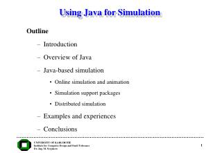 Using Java for Simulation