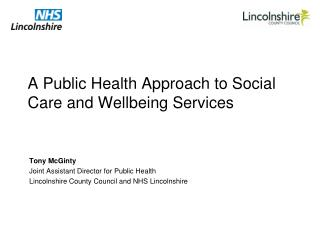 A Public Health Approach to Social Care and Wellbeing Services