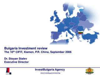 General political and economic information Investment opportunities in Bulgaria