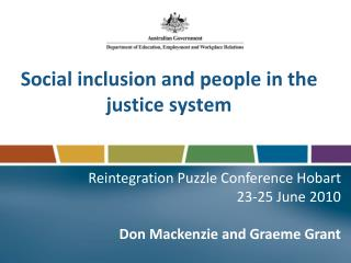 Social inclusion and people in the justice system