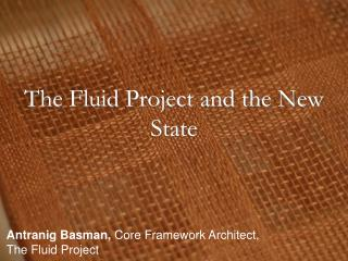 The Fluid Project and the New State