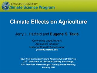 Climate  Effects on Agriculture