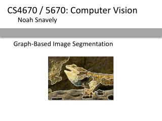 Graph-Based Image Segmentation
