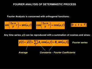 FOURIER ANALYSIS OF DETERMINISTIC PROCESS