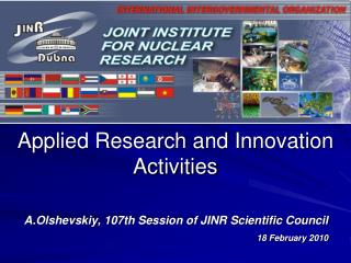 Applied Research and Innovation Activities