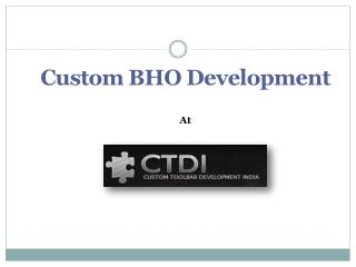 Custom BHO Development