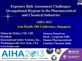 Exposure Risk Assessment Challenges