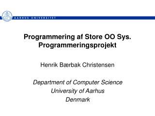 Programmering af Store OO Sys. Programmeringsprojekt