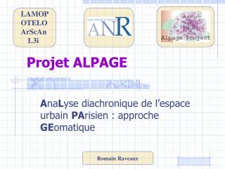 Projet ALPAGE