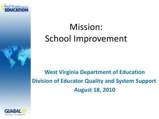Mission: School Improvement