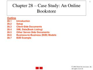 Chapter 28 – Case Study: An Online Bookstore