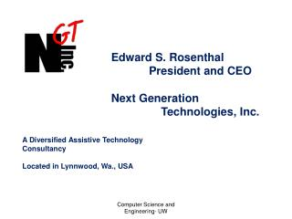 Edward S. Rosenthal                         President and CEO