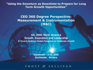 Global Perspective – Measurement & Instrumentation