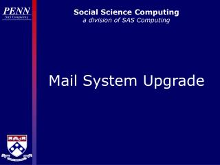 Social Science Computing a division of SAS Computing