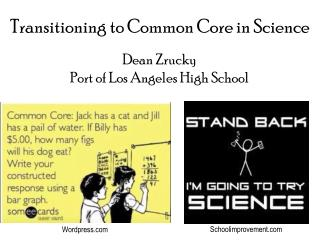 Transitioning to Common Core in Science