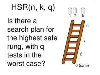 Is there a search plan for the highest safe rung, with q tests in the worst case?